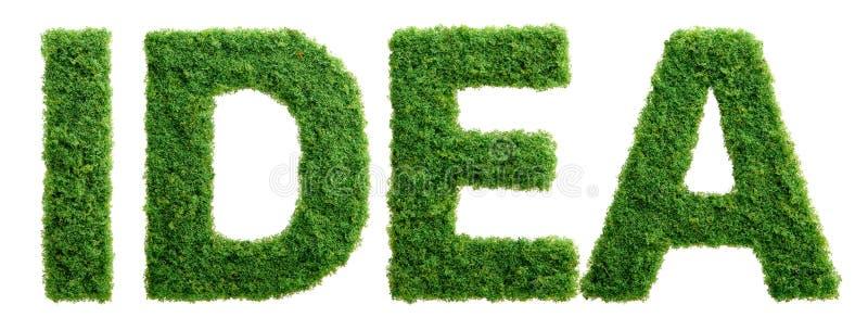 Lettere di idea di crescita dell'erba isolate fotografia stock libera da diritti