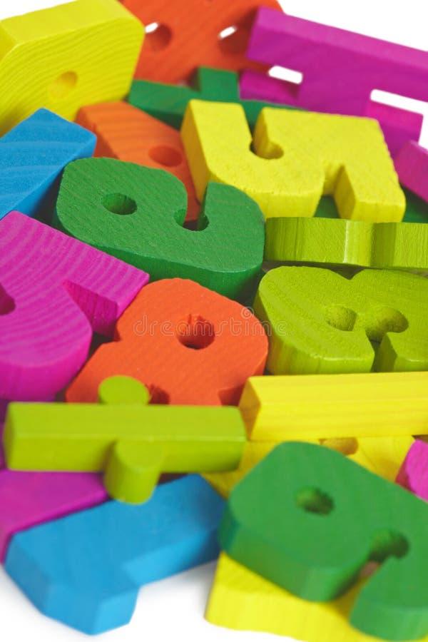 Lettere di legno del giocattolo del bambino fotografia stock