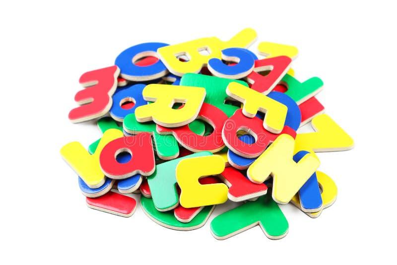 Lettere di plastica immagine stock