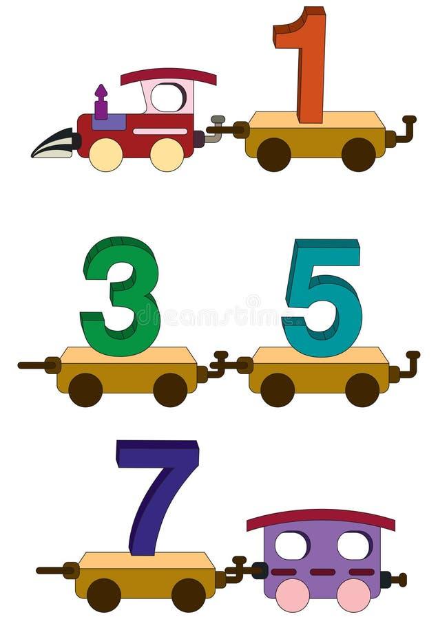 Lettere e numeri del treno royalty illustrazione gratis