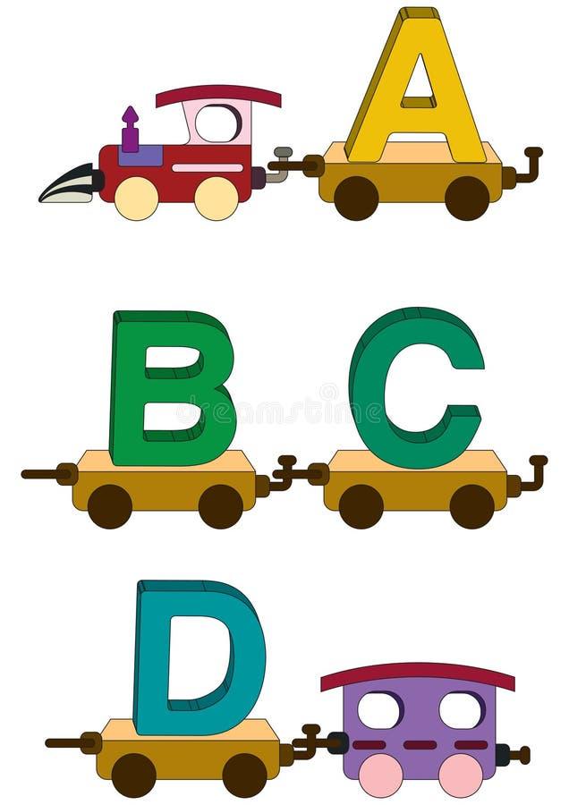 Lettere e numeri del treno illustrazione di stock
