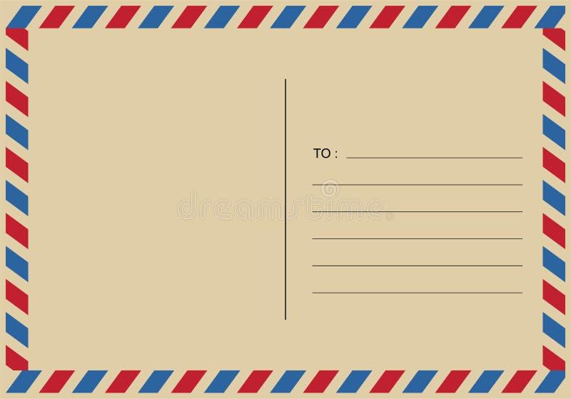 Lettere e timbri postali, vettore di progettazioni di posta aerea royalty illustrazione gratis