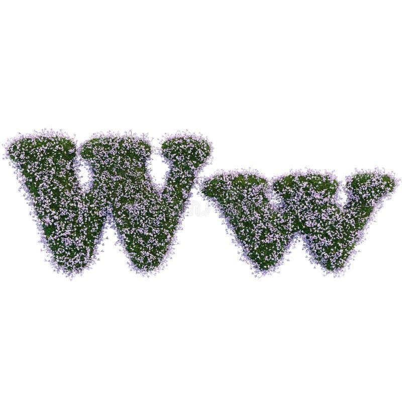 Lettere fatte delle foglie e dei fiori immagini stock