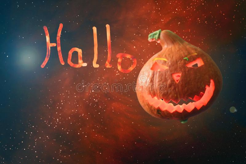Lettere illustrate di Halloween dell'iscrizione dai carboni brucianti royalty illustrazione gratis