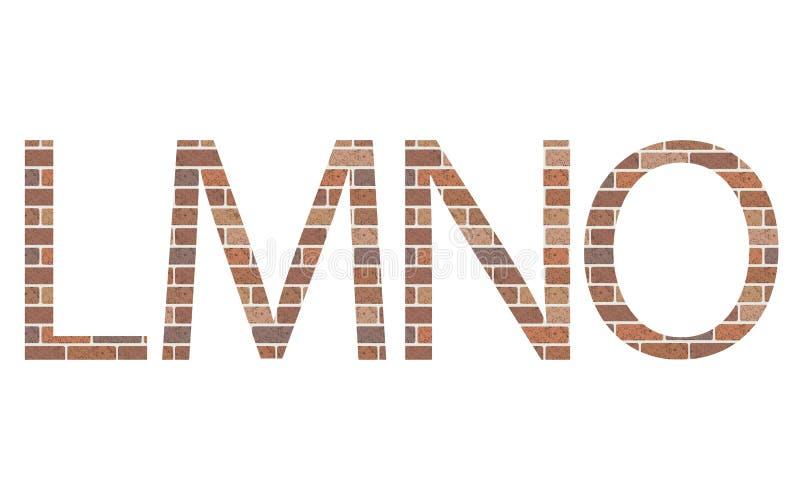Lettere LMNO in mattoni illustrazione vettoriale