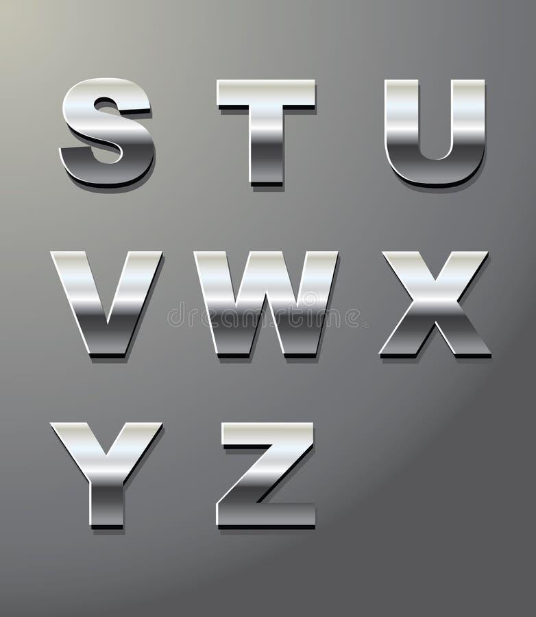 Download Lettere lucide del metallo illustrazione vettoriale. Immagine di riflettente - 19545330
