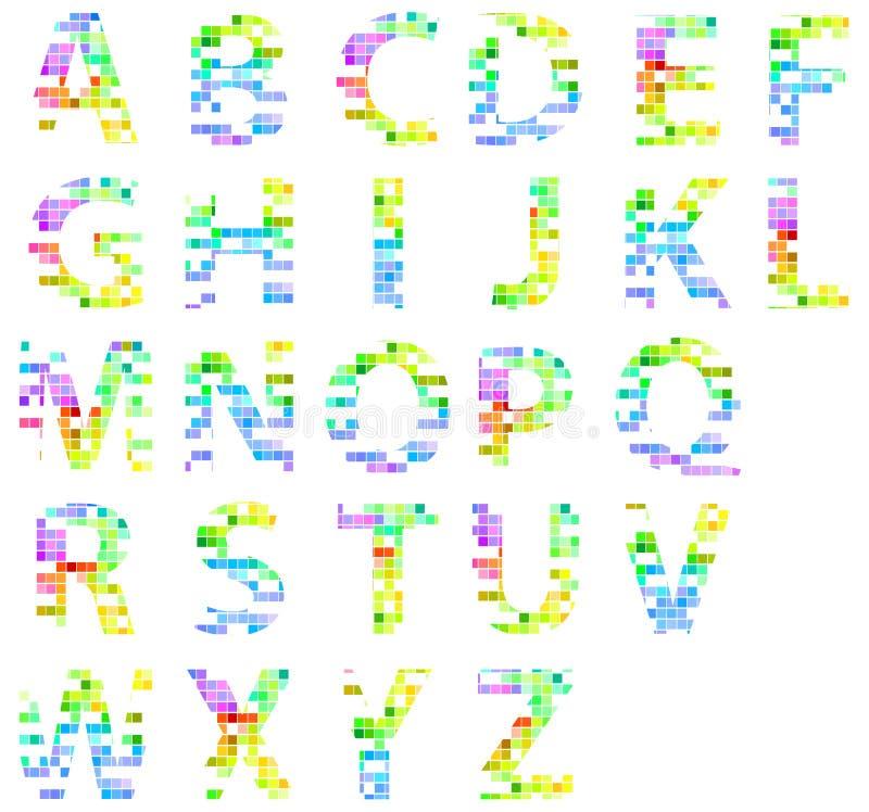 Lettere quadrate moderne variopinte di alfabeto del for Lettere moderne