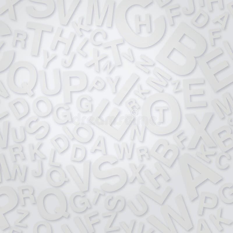 Lettere sulla superficie di bianco royalty illustrazione gratis