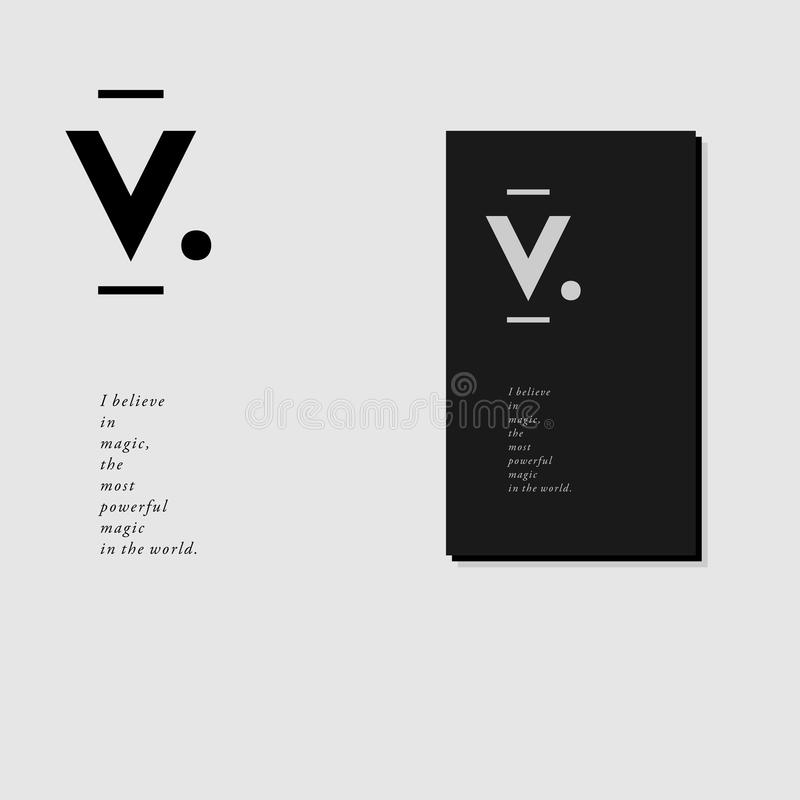 Letterhead And Business Card Design With V Monogram Stock Vector ...