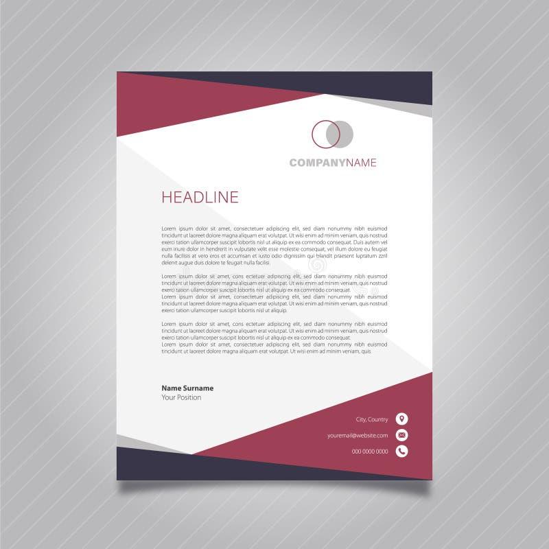 Letterhead Design Template stock vector  Illustration of birthday