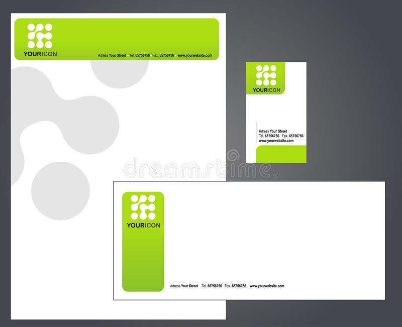 Letterhead, Envelope And Business Card Stock Vector - Illustration ...
