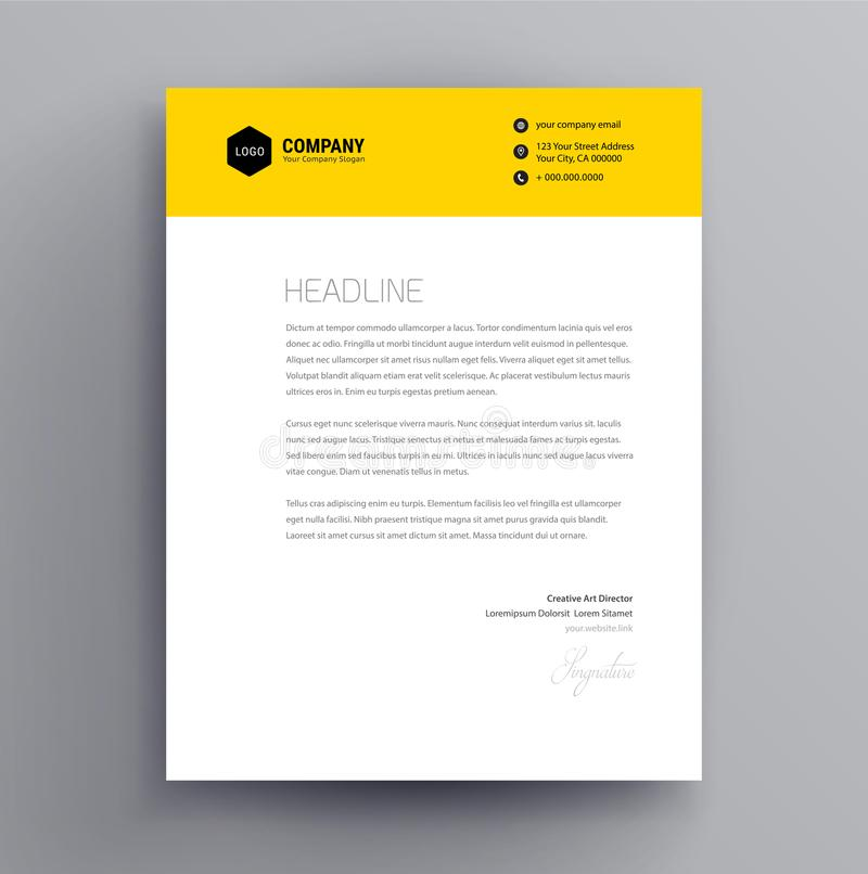 Letterhead projekta szablon i mockup minimalista projektujemy wektor - ilustracja wektor