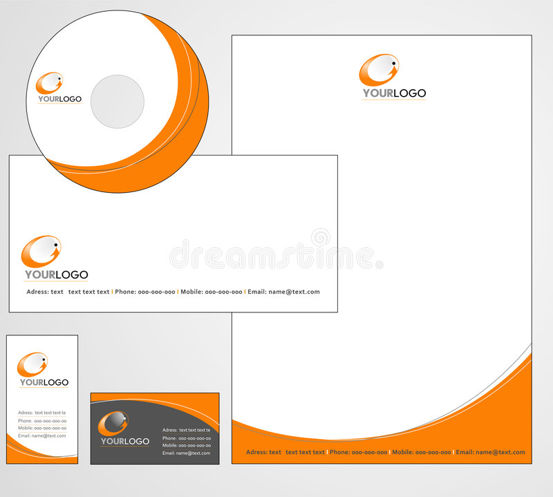 Letterhead Template design - vector royalty free illustration