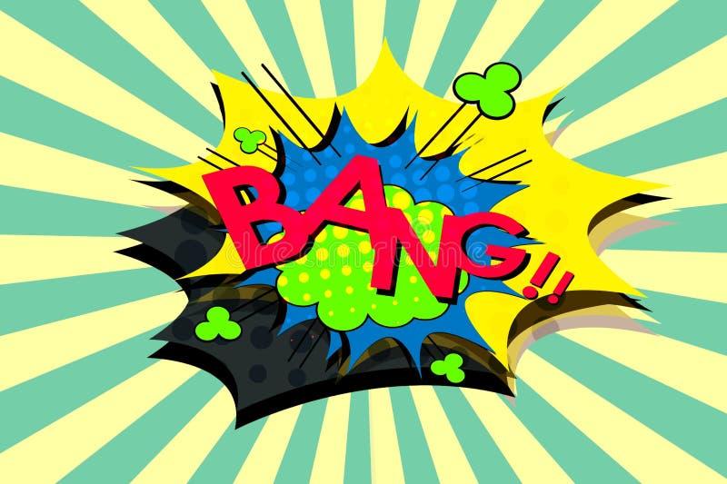 Bang royalty free illustration