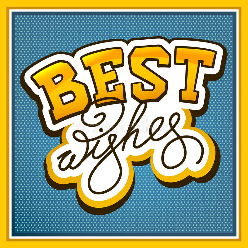 Lettering Best Wishes Royalty Free Stock Image