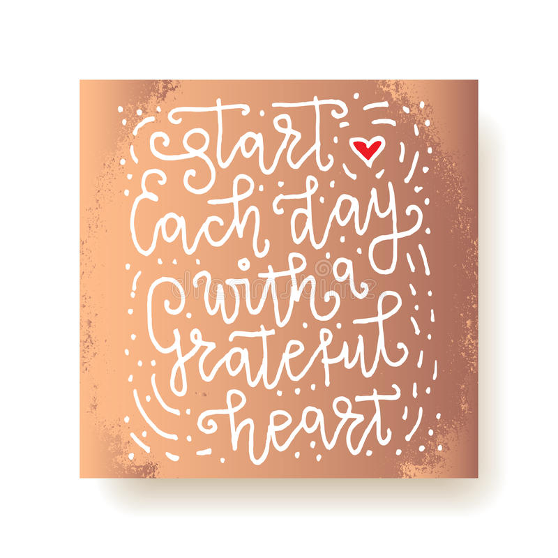 Lettering cards royalty free illustration