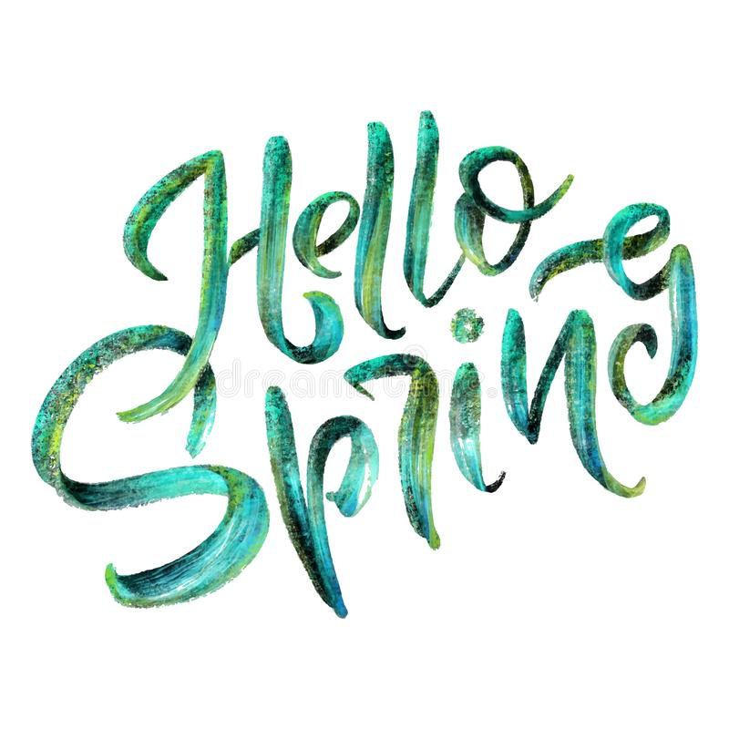 Sweet Spring Inspiration Typography Calligraphy Graphic Design Element