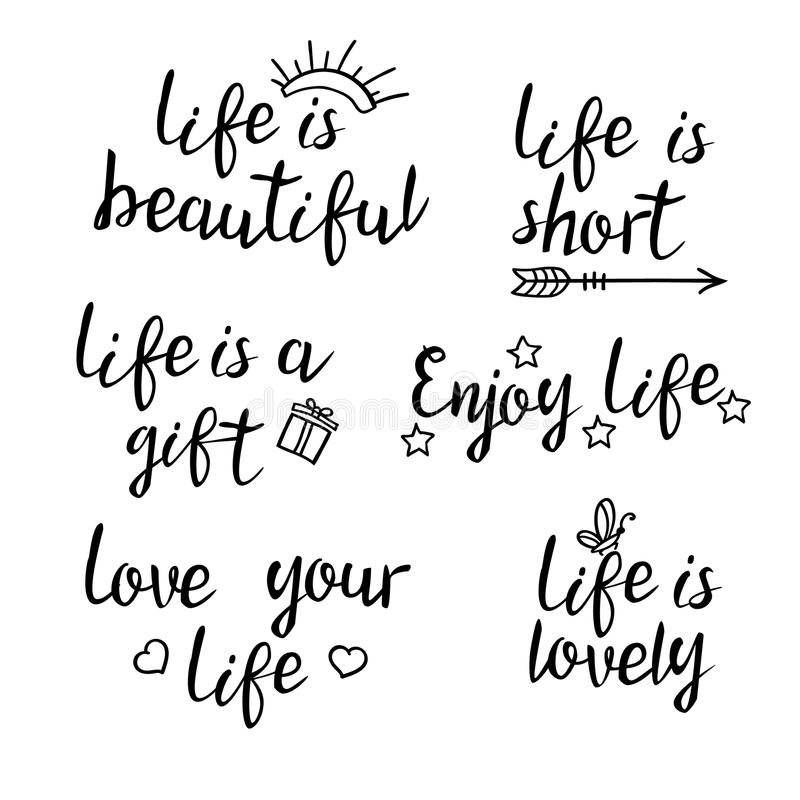 Superb Download Lettering Life Quotes. Stock Vector. Illustration Of Lifestyle    73011217
