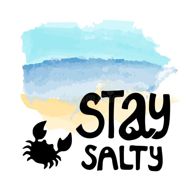 Lettering logo stay salty stock illustration
