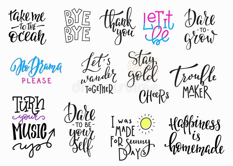 Download Lettering Photography Overlay Set Stock Illustration