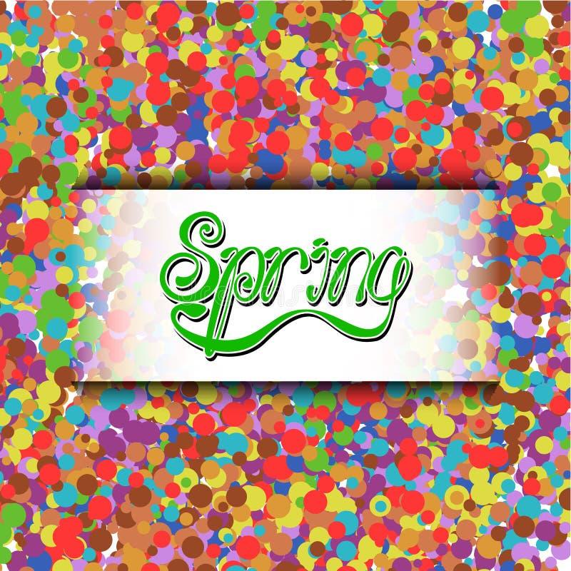 Lettering_spring8 διανυσματική απεικόνιση