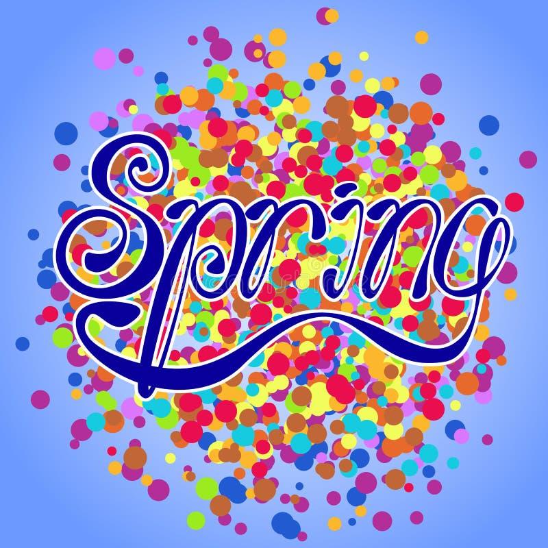 Lettering_spring6 απεικόνιση αποθεμάτων
