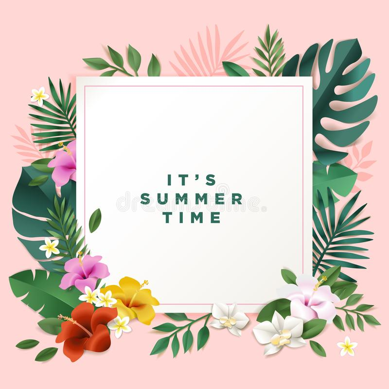 Summer vector illustration concept for background web and social download summer vector illustration concept for background web and social media banner summertime card stopboris Images