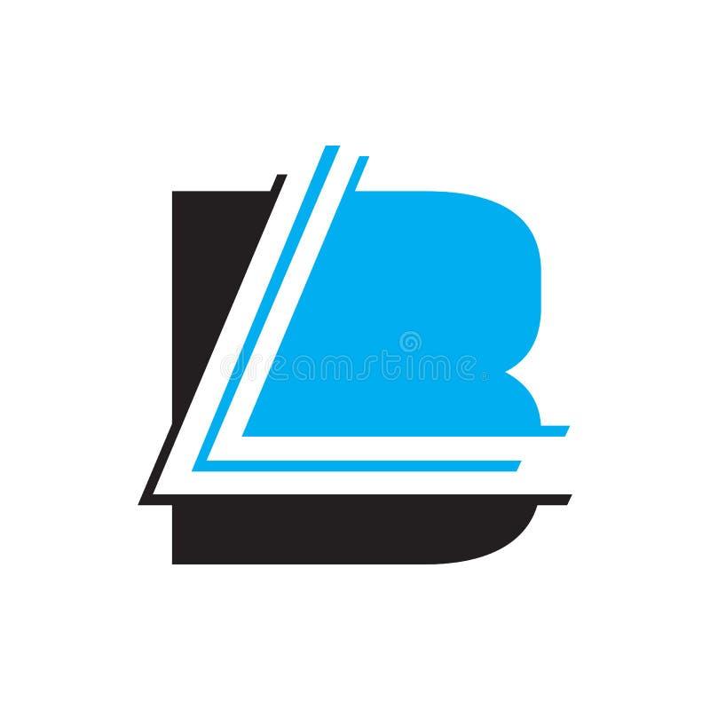 Lettering Typography BL logo design vector illustration. Branding, flat, line, shape, art, key, success, letters, type, typeface, label, element, management vector illustration
