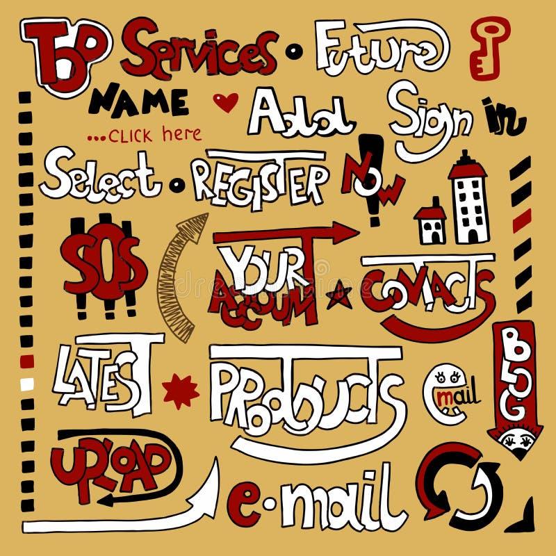 Download Lettering Web Design Element Stock Vector - Illustration of marker, promotion: 22495234