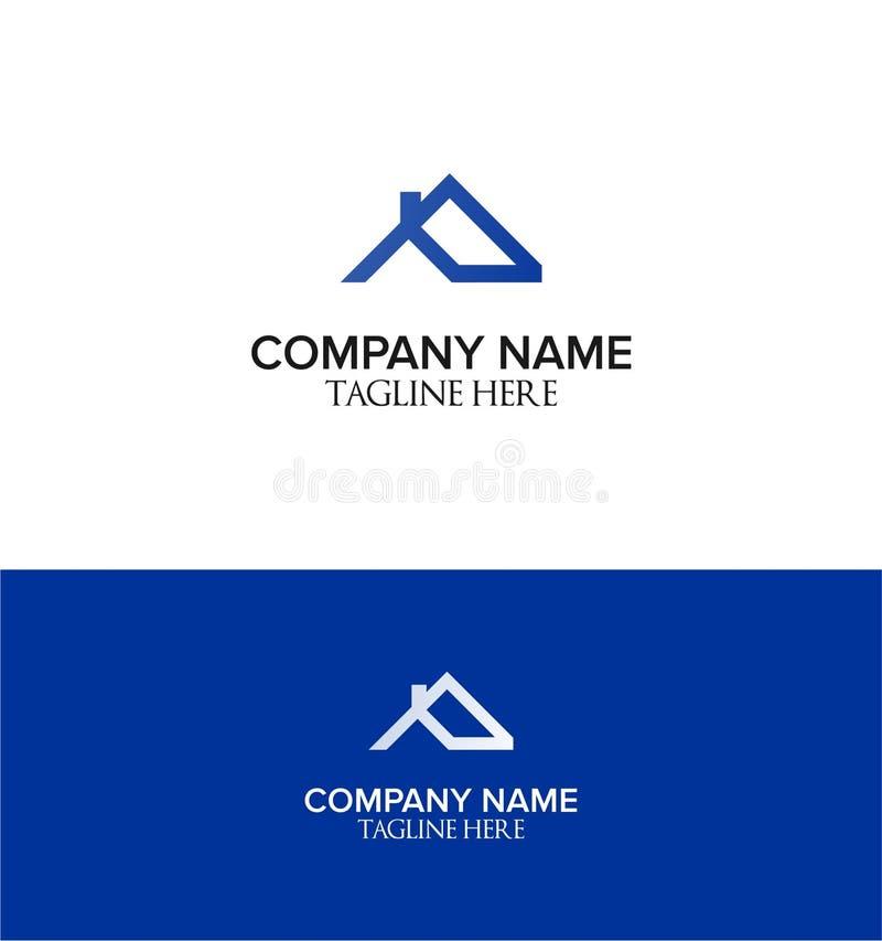 Lettermark de P para o molde do logotipo para bens imobiliários ou algum negócio da propriedade ilustração do vetor