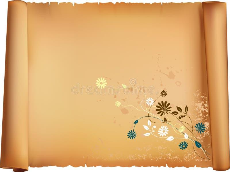 Letterpaper con el modelo de la flora stock de ilustración