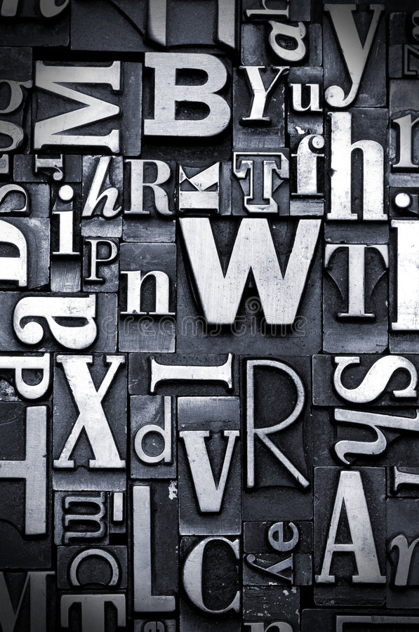 letterpress ανασκόπησης τυχαίο στοκ εικόνα