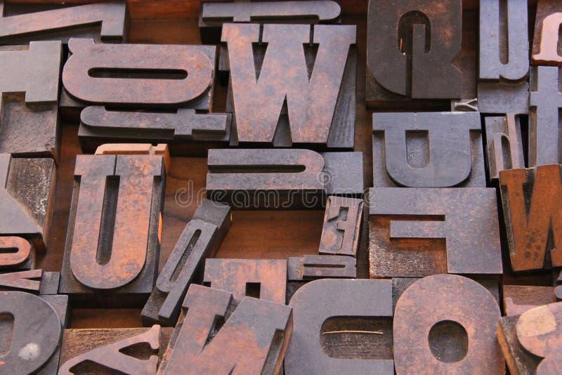 Letterpress επιστολές στοκ εικόνες