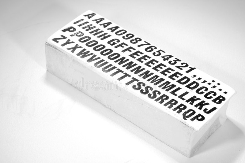 letterpress ομάδων δεδομένων τύπος στοκ εικόνες