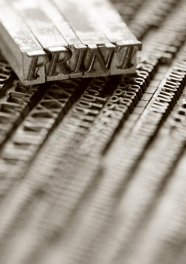 letterpress ομάδων δεδομένων στοκ εικόνα με δικαίωμα ελεύθερης χρήσης