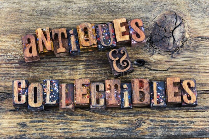 Letterpress знака collectibles антиквариатов стоковые фотографии rf