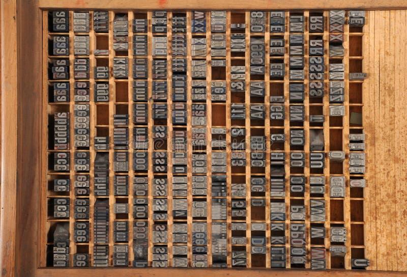 Letterpress старого оформления стоковое фото