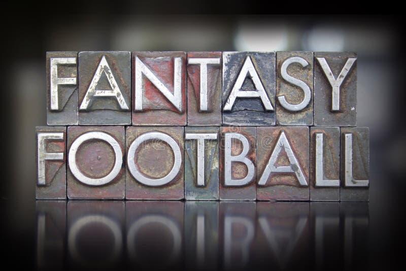 Letterpress футбола фантазии стоковая фотография rf