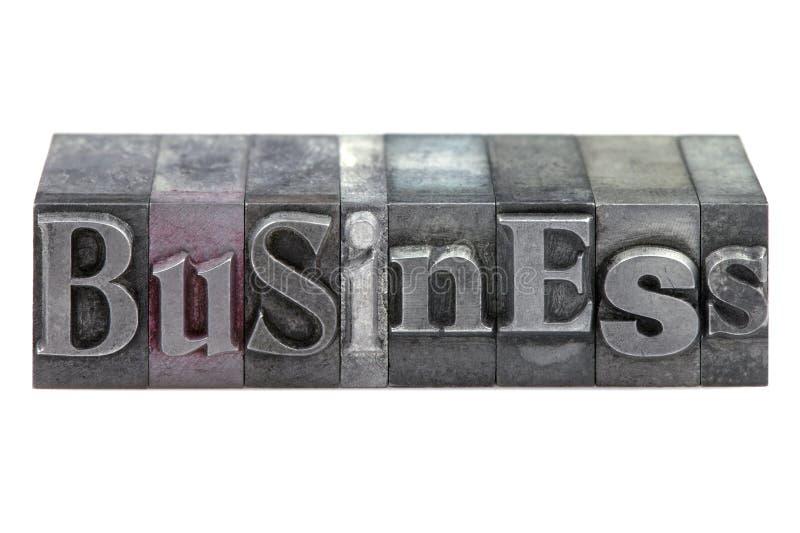Letterpress Business royalty free stock photo