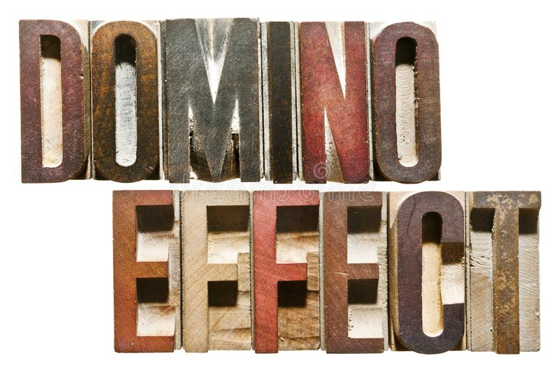 Letterpress Letters: EFFET DOMINO photos libres de droits
