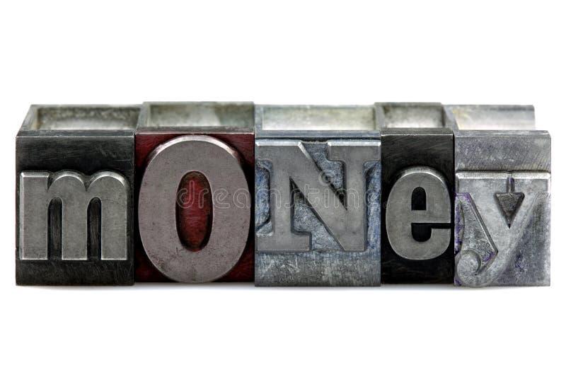 Letterpress Money stock image