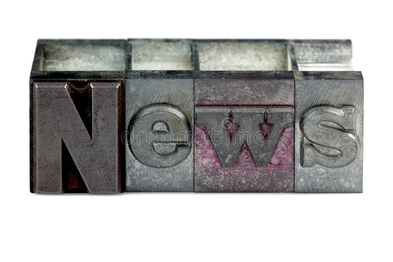 Letterpress News royalty free stock photo