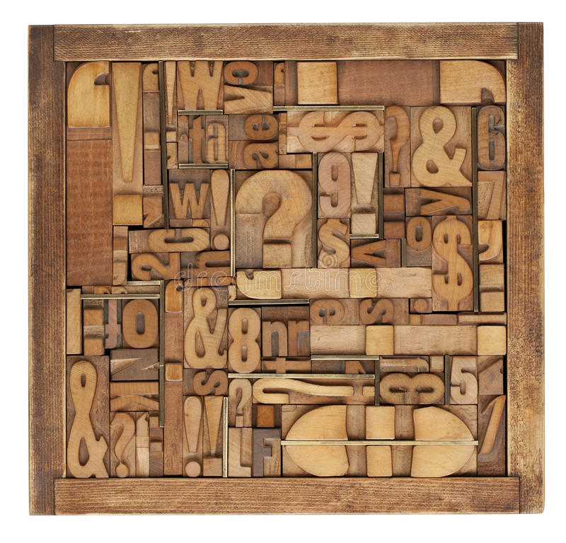 Letterpress printing blocks abstract stock images