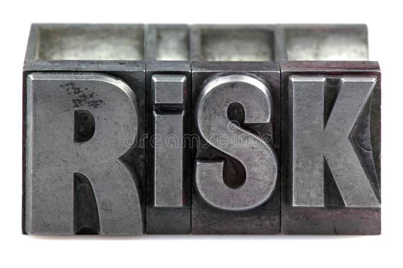 Letterpress Risk stock images