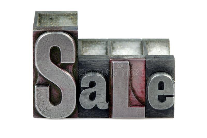 Letterpress Sale royalty free stock photos