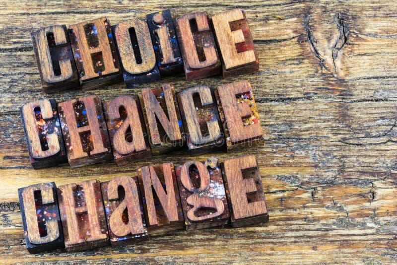 Choice chance change inspiration stock image