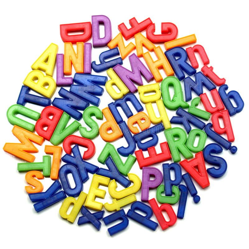 Letters. English alphabet letters in plastic toy characters stock image
