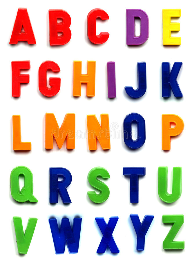Letters. The British alphabet letters in plastic toy characters royalty free stock photos