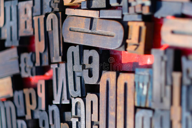 The letters. Abstract image of the letters of the alphabet stock photos