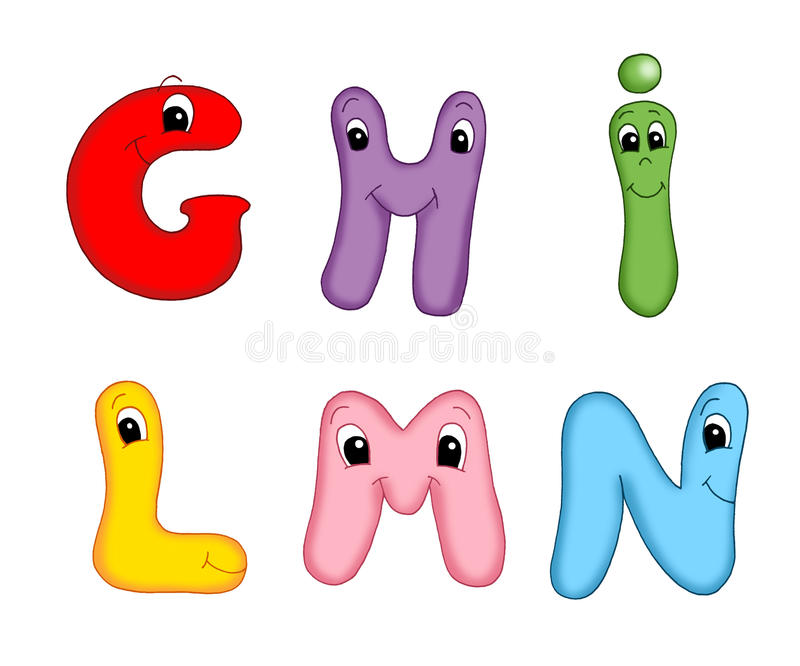 Letters of the alphabet - 2 stock image